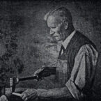 Der Gründer der Firma, Wilhelm Dinkel, nach einem Gemälde von Litzmann, das in den 20er Jahren gemalt wurde.